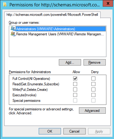Adding vCO Powershell Host with account other than the