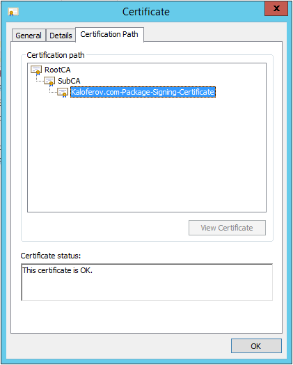 How To Change The Package Signing Certificate Of A VRO