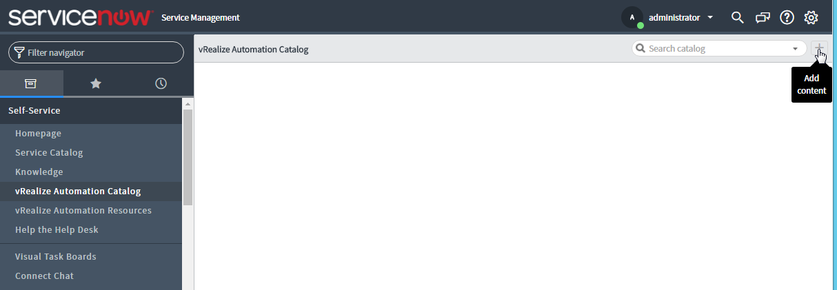 Configuring the vRealize Automation Plug-in for ITSM (ServiceNow) v1